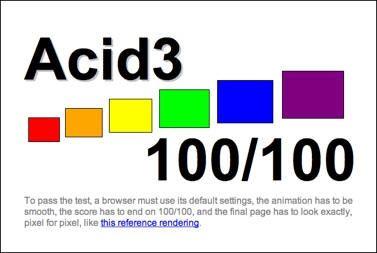 Браузерні гонки. Проходження браузерами нового тесту acid3
