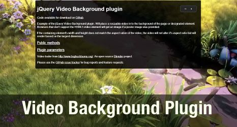 Як зробити відео на задньому фоні за допомогою jquery.