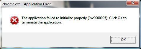 Помилка при запуску програми (0xc0000005) в windows 7 і windows 8